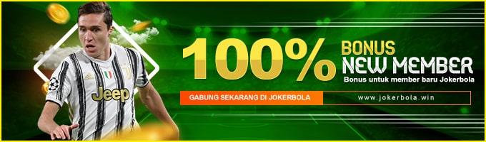 bonus member baru 100%